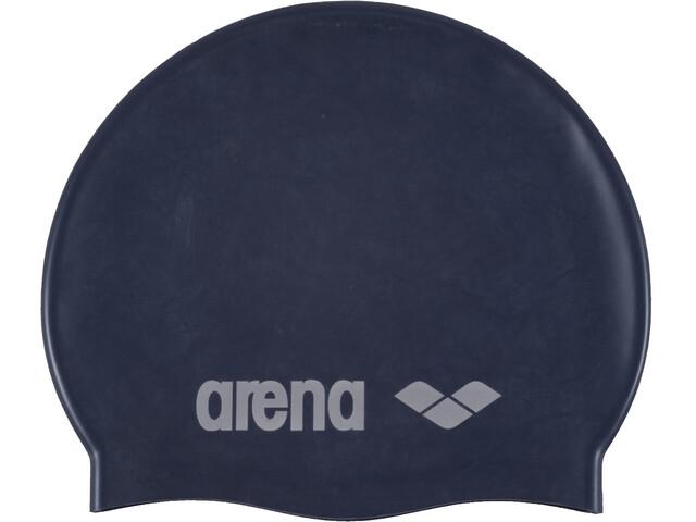arena Classic Silicone Bonnet de bain Enfant, denim/silver